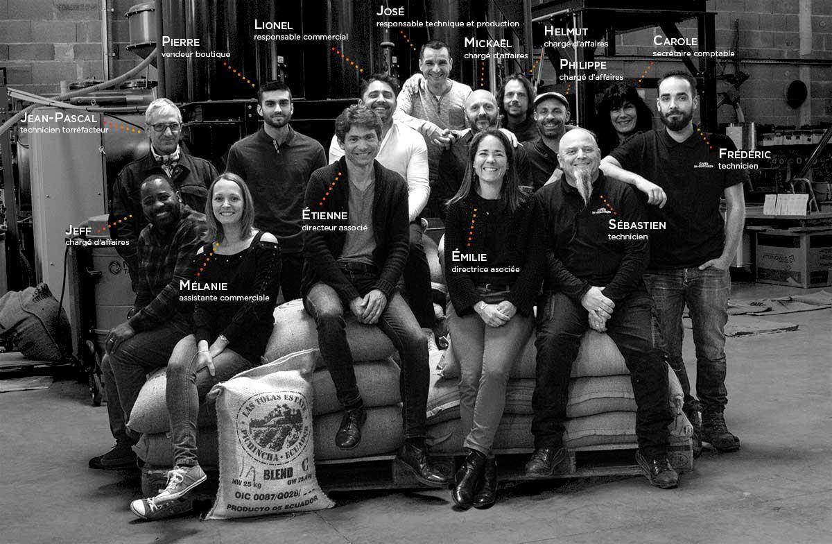 l'équipe Cafés Di-Costanzo
